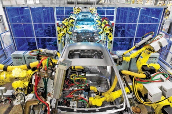 北京現代自動車の第3工場組立ライン 写真=現代車提供