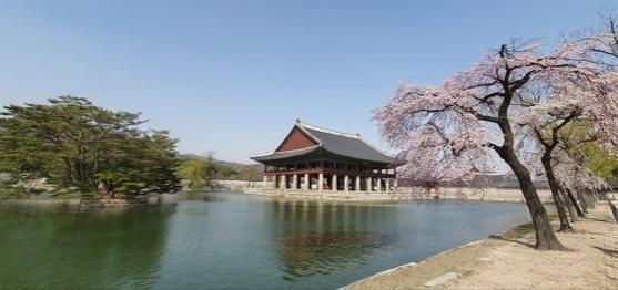 景福宮慶会楼(キョンボックン・キョンフェル)一帯。[写真 韓国文化財庁]