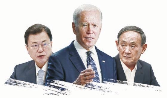 韓日米の首脳