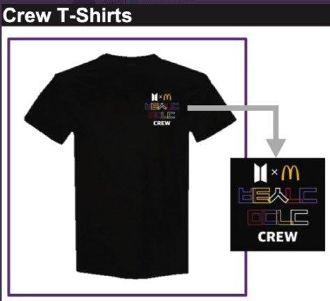 米国ファッションメディア「SAINT」のツイッターで公開されたマクドナルドのクルーTシャツ。[写真 ツイッター]