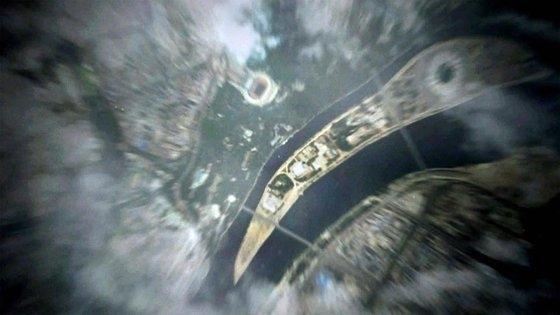 P4G会議の開幕映像で、ソウルが登場すべきところに平壌(ピョンヤン)綾羅島(ヌンラド)の衛星写真が登場した場面。