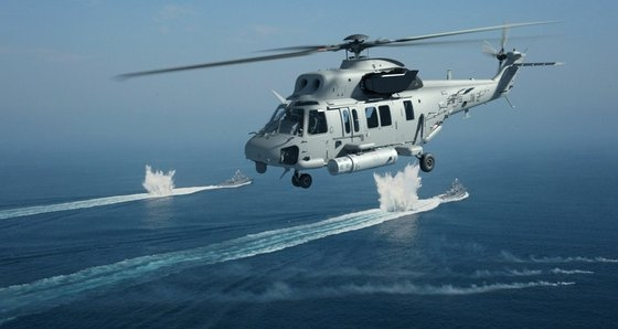 KAIが開発に挑戦する掃海ヘリコプター構想図。 写真=KAI
