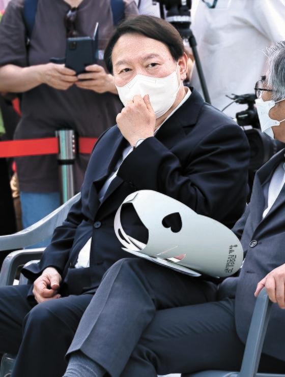 9日、友堂記念館開館式に出席した尹錫悦(ユン・ソクヨル)前検察総長 ウ・サンジョ記者