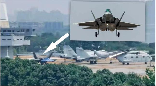 中国第2世代ステルス機「FC-31」とみられる戦闘機。[写真 聯合ニュース]