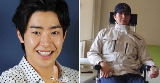 俳優パク・ミヌは、2018年社会服務要員として代替服務中に東湖大橋付近でバイクに乗っていたところ、交通事故に遭った。右の写真はCTSキリスト教テレビのユーチューブを通じて公開された彼の最近の姿。[韓国ニッカンスポーツ・ユーチューブ キャプチャー]