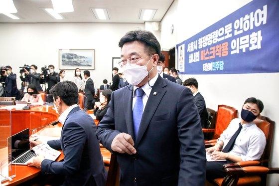 共に民主党の尹昊重院内代表