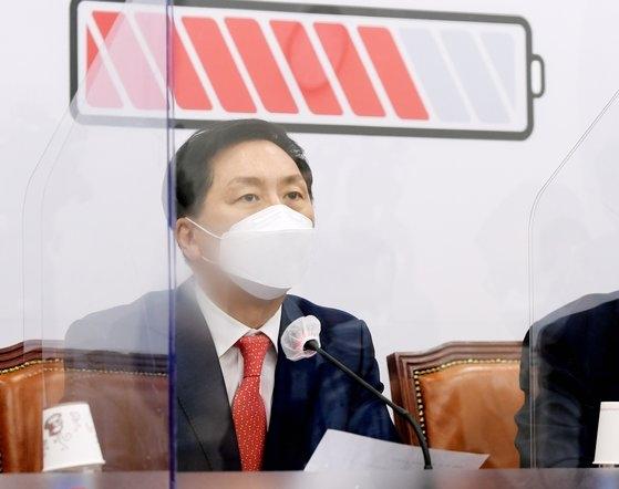 国民の力の金起ヒョン(キム・ギヒョン)院内代表 イム・ヒョンドン記者