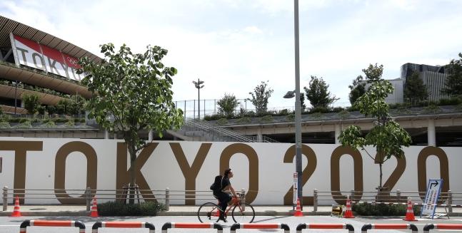 2020東京五輪開幕を1週後に控えた16日の東京オリンピックスタジアム[写真 オリンピック写真共同取材団]
