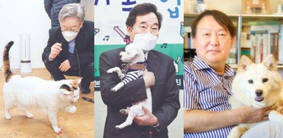 左から李在明京畿道知事、李洛淵元首相、尹錫悦前検事総長。[インスタグラム キャプチャー]