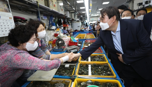 尹錫悦前検察総長。ソン・ボングン記者