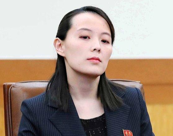 北朝鮮の金与正朝鮮労働党副部長。[写真 青瓦台写真記者団]