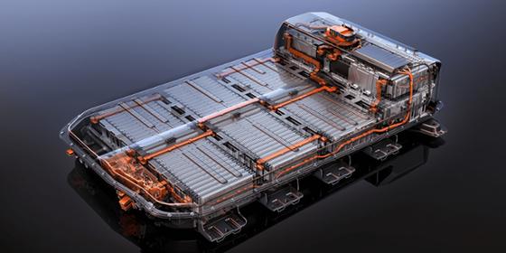 GM「ボルトEV」に採用されたLGエネルギーソリューションの高電圧バッテリーのイメージ。[写真 GM]
