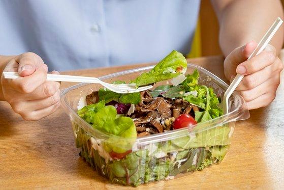 菜食の食卓。※写真は資料です。中央フォト