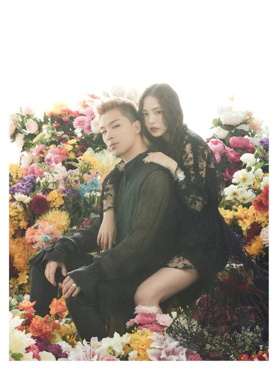 BIGBANG(ビッグバン)のSOLと女優ミン・ヒョリンのウェディング写真。[写真 YGエンターテインメント]