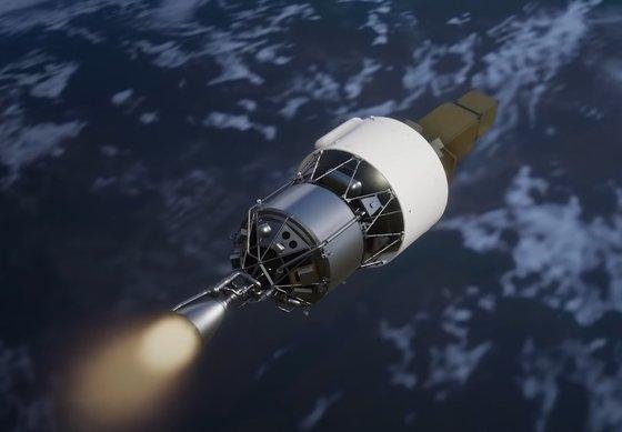 「ヌリ号」が搭載したダミー衛星のイメージ。政府は来年5月に2回目の打ち上げに挑戦する。 [写真 韓国航空宇宙研究院]