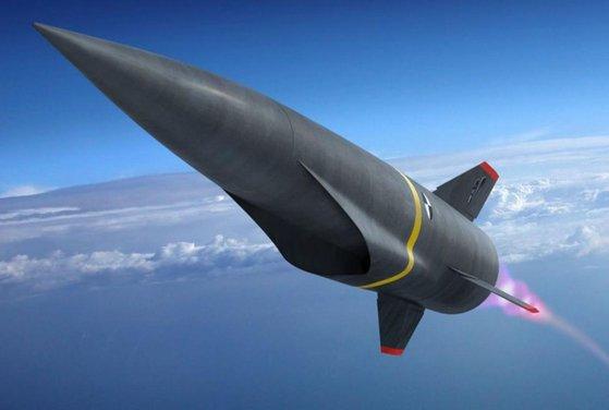 極超音速ミサイルの想像図。 [写真 ロッキードマーティン]